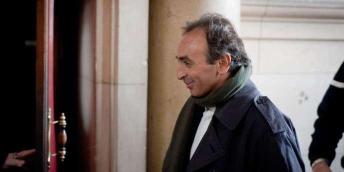 Eric Zemmour au tribunal de Paris en janvier 2011.