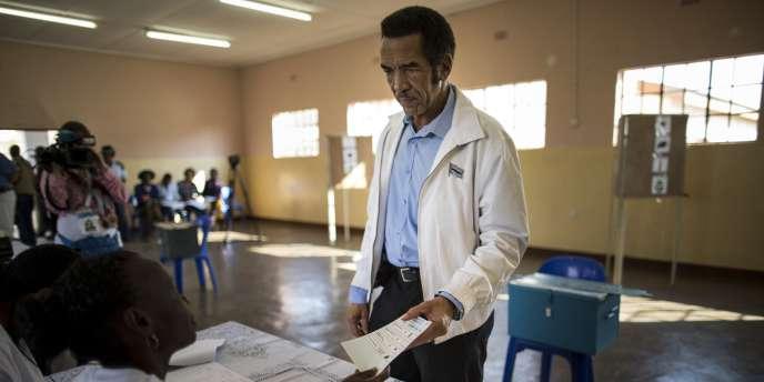 Ian Khama, le président réélu.