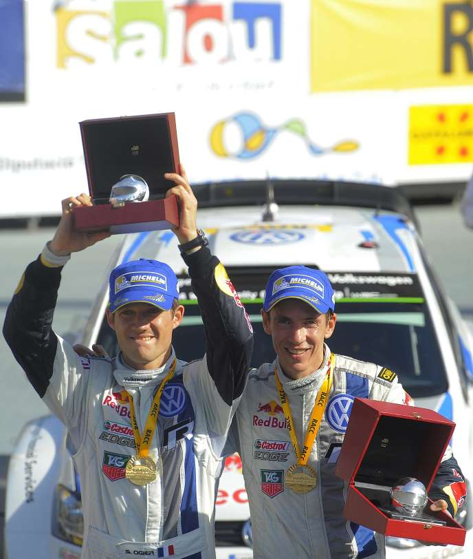 Sébastien Ogier et son co-pilote, Julien Ingrassia.