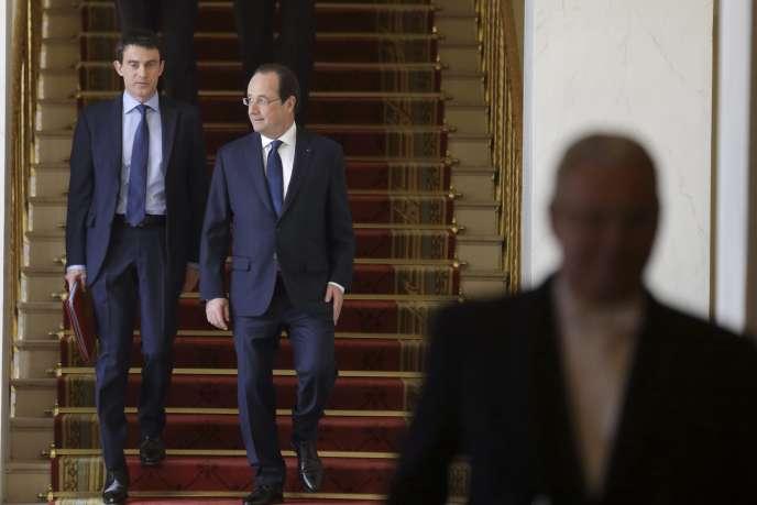 Le président Hollande et son premier ministre, Manuel Valls, le 4 avril.