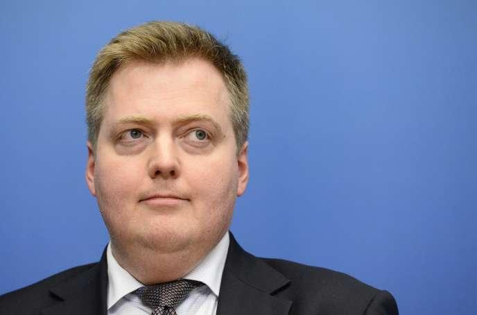 Le premier ministre islandais Sigmundur David Gunnlaugsson, le 27 octobre, Stockholm.