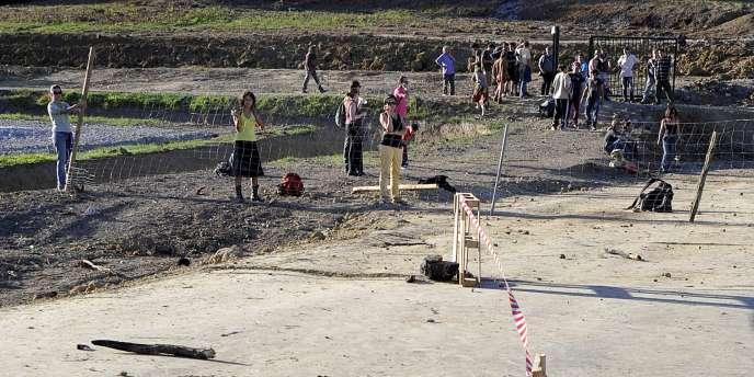Sur le site du projet de barrage à Sivens (Tarn), dimanche26octobre.
