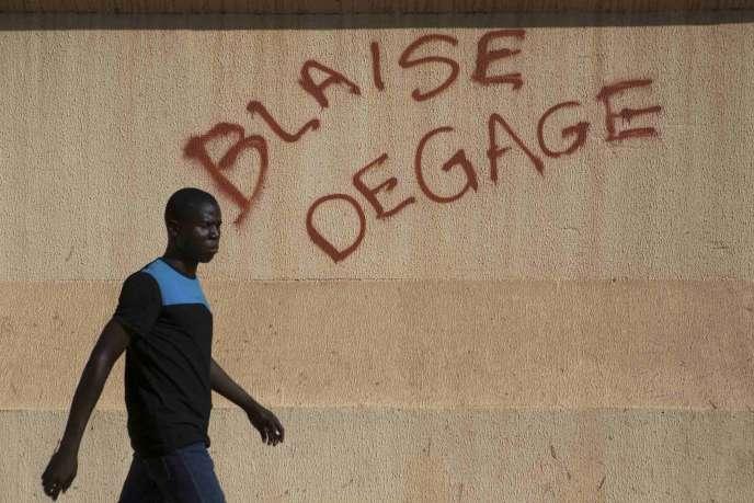 Dans les rues de Ouagadougou, le 29 octobre.