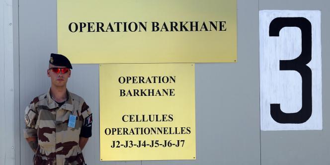 Un soldat de l'opération Barkhane, le 26 octobre.