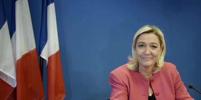 Marine Le Pen, présidente du Front national à Nanterre le 15 octobre.