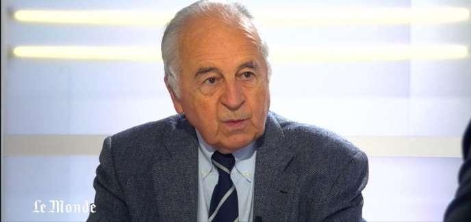 Antoine Prost, historien et président de la Mission du centenaire de la première guerre mondiale.
