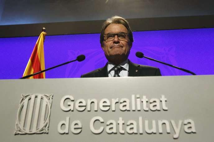 Artur Mas, à Barcelone, le 31 octobre 2014.