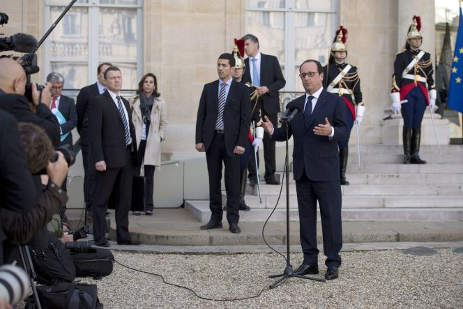 François Hollande, le 31 octobre à Paris.