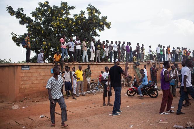 A Ouagadougou, vendredi.