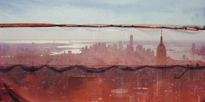 New York, vu depuis le 92e  des 96 étages de la tour 432  sur Park Avenue, à Manhattan.