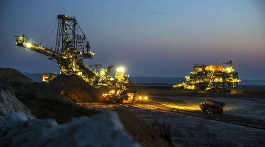 En Allemagne, 40 % de l'électricité consommée dans le pays est produite grâce au charbon. Ici, la mine de l'industriel Vattenfall, à Spremberg, dans l'est de l'Allemagne.
