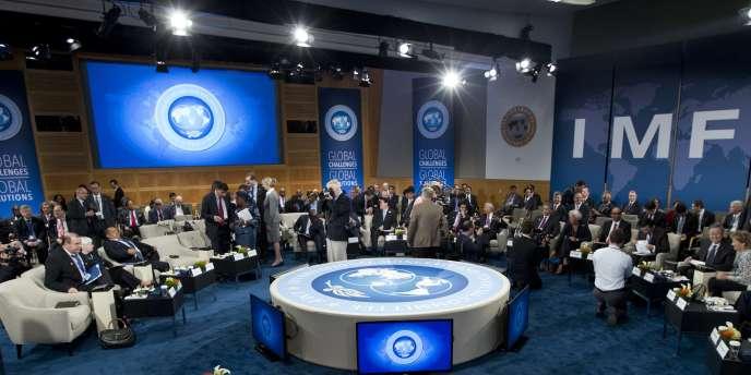 Le siège du FMI, le 11 octobre.