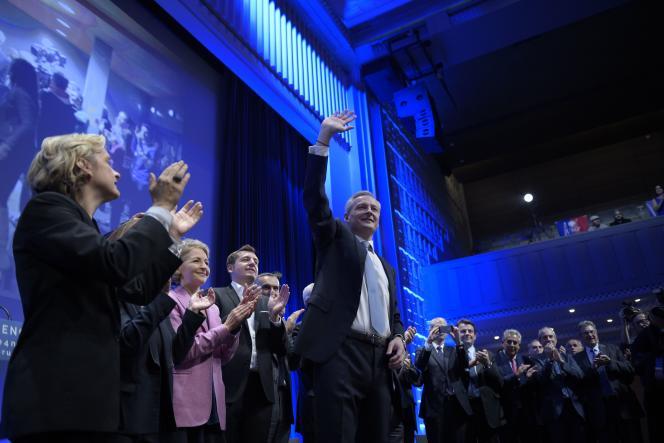 Bruno Le Maire, candidat à la présidence de l'UMP, lors d'un meeting, le 4 novembre.