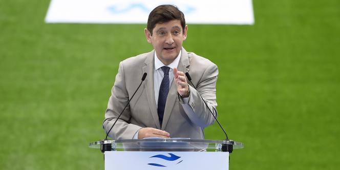 Patrick Kanner, lors de l'inauguration du nouveau stade Vélodrome, le 16 octobre.