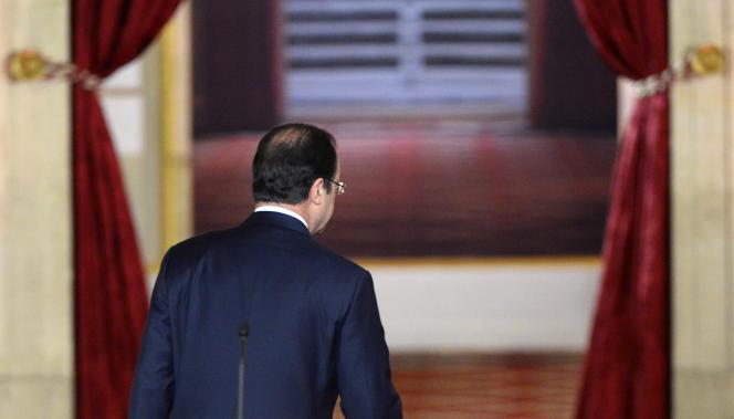François Hollande, lors de sa conférence de presse à l'Elysée le 18 septembre.