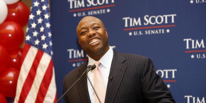 Tim Scott est devenu, mardi, le premier Noir américain à entrer au Sénat depuis la guerre de Sécession.