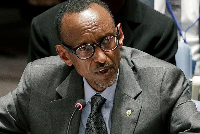 Le président du Rwanda, Paul Kagamé, lors d'un discours aux Nations unies à New York en septembre 2014.
