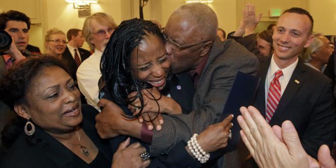 Mia Love, ancienne maire de la ville de Saratonga Springs dans l'Utah, a remporté un siège au Congrès.
