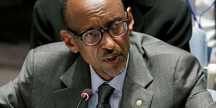Le président rwandais Paul Kagamé, à l'ONU, le 24 septembre 2014.