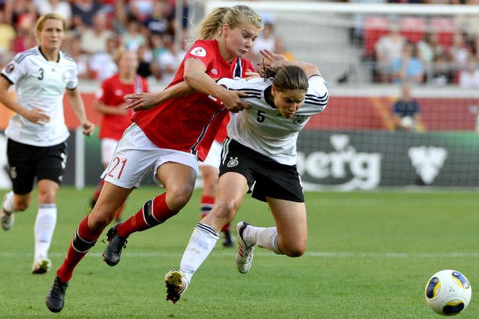 Ada Hegerberg, la dernière recrue lyonnaise, sous le maillot de la Norvège, le 7 juillet 2013.