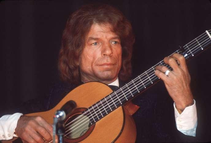 Manitas de Plata en concert à la Salle Pleyel à Paris en novembre 1969.