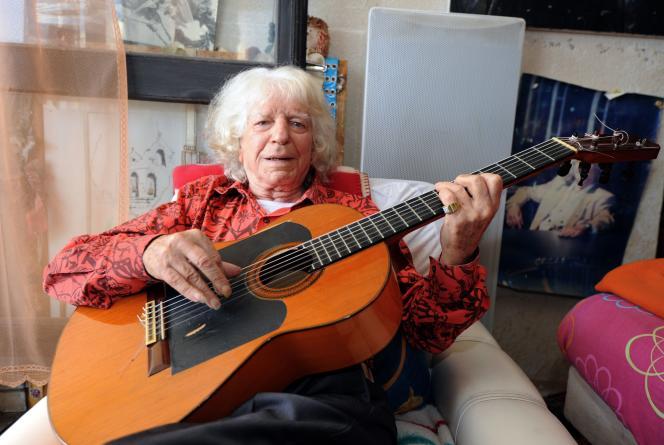 Manitas de Plata, de son vrai nom Ricardo Baliardo, le 5 août 2011 dans sa maison de la Grande-Motte.