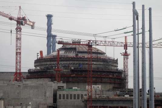 Le chantier de l'EPR de Flamanville (Manche), en novembre 2014.