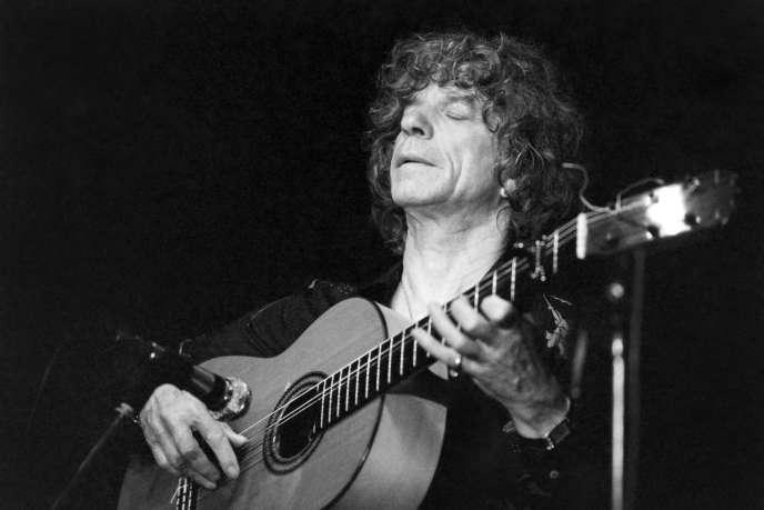 Manitas de Plata, en concert à Paris en juin 1983.