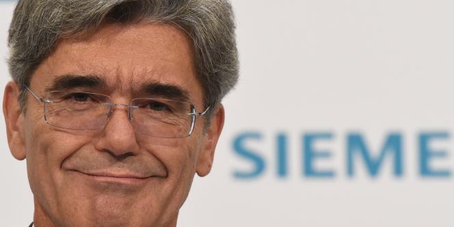 Joe Kaeser, PDG de Siemens, le 6 novembre à Berlin à l'occasion de la conférence annuelle du groupe allemand.
