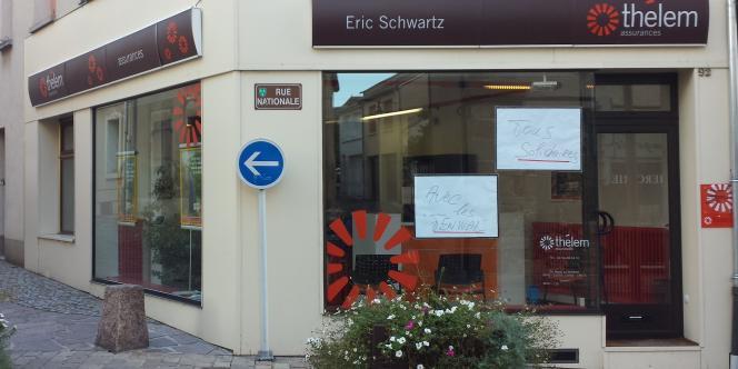 A La Châtre, un assureur affiche son soutien aux salariés de Fenwal.