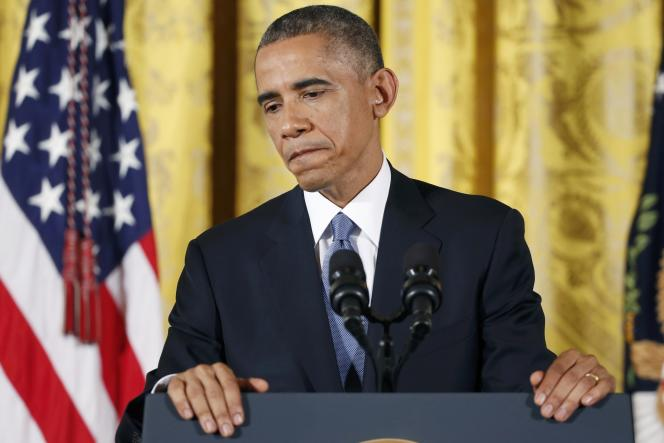 Conférence de presse de Barack Obama, mercredi 5 novembre, au lendemain de la défaite des démocrates aux élections de mi-mandat.