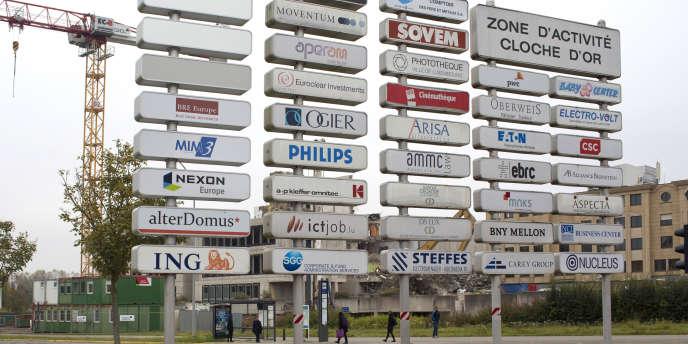 La zone d'activité de la Cloche d'or, à Luxembourg.
