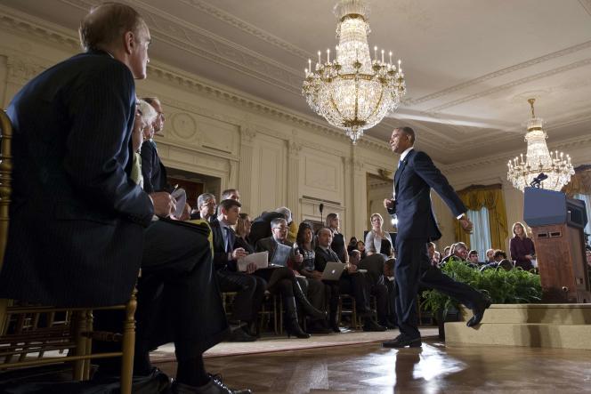 Le président Barack Obama,  à l'issue d'une conférence de presse à la Maison Blanche, le 5 novembre.