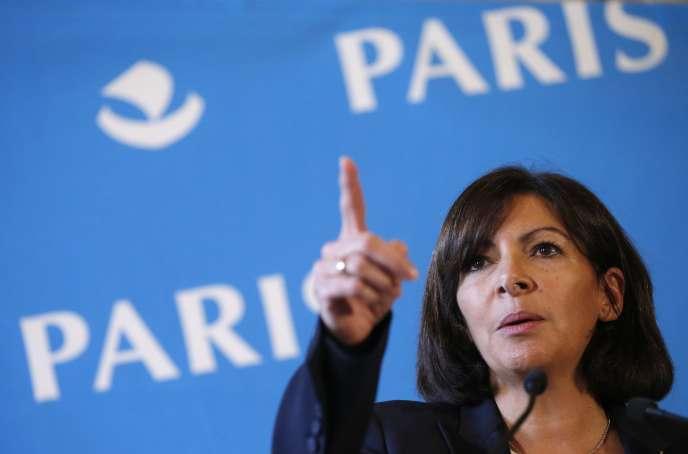 Anne Hidalgo lors d'une conférence de presse, à Paris le 7 novembre.