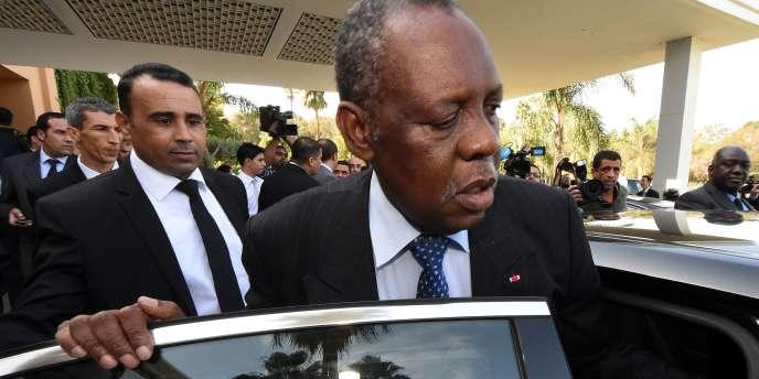 Le président de la Confédération africaine de football Issa Hayatou, en déplacement à Rabat, le 3 novembre.