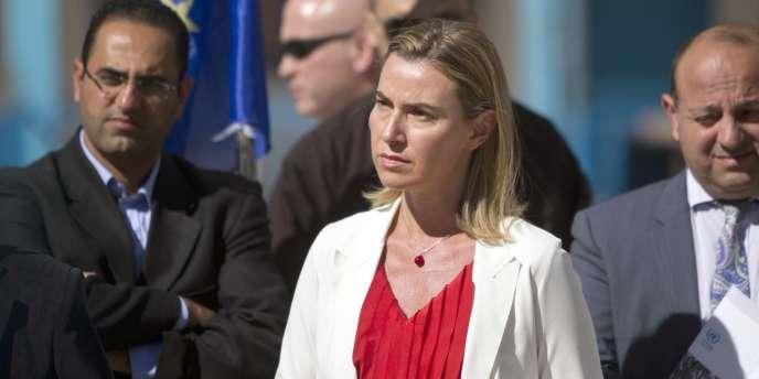 Federica Mogherini, le 8 novembre à Gaza.