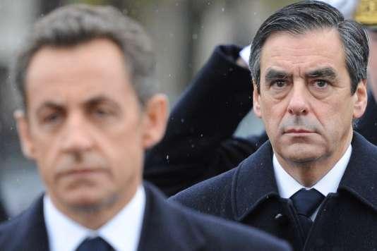 François Fillon, alors premier ministre de Nicolas Sarkozy, durant les cérémonies du 11 novembre 2010 à Paris.