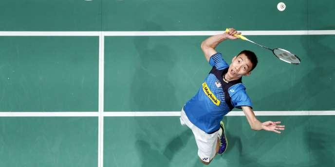 Le champion malaisien de Badminton, Lee Chong Wei, en janvier 2014.