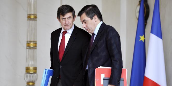 Jean-Pierre Jouyet et François Fillon le 12 novembre 2008.
