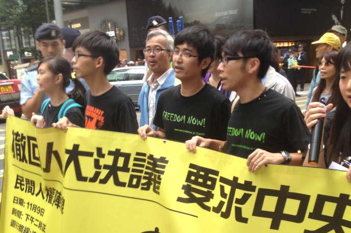 Manifestation des prodémocratie dimanche 9 novembre à Hongkong.