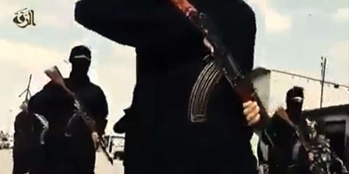 Image extraite d'une vidéo de propagande de l'Etat islamique diffusée le23septembre2014.