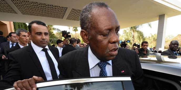 Le président de la CAF, Issa Hayatou, le 3 novembre à Rabat.