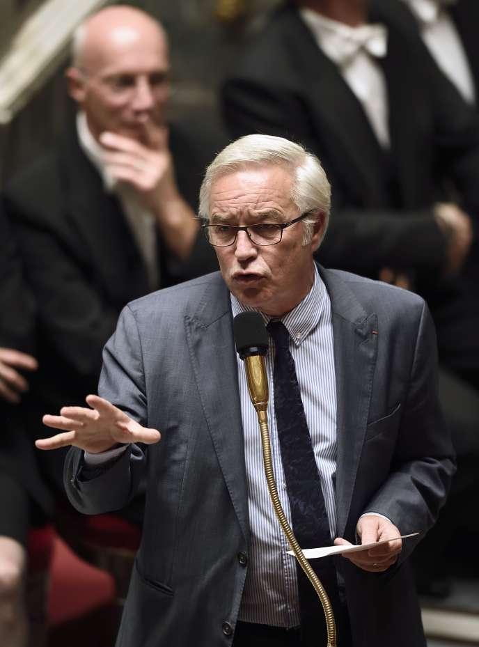 Le ministre du travail  Francois Rebsamen à l'Assemblée nationale le 12 novembre 2014.
