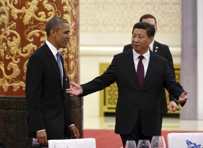 Le président américain Barack Obama et le président chinois Xi Jinping, en novembre 2014.