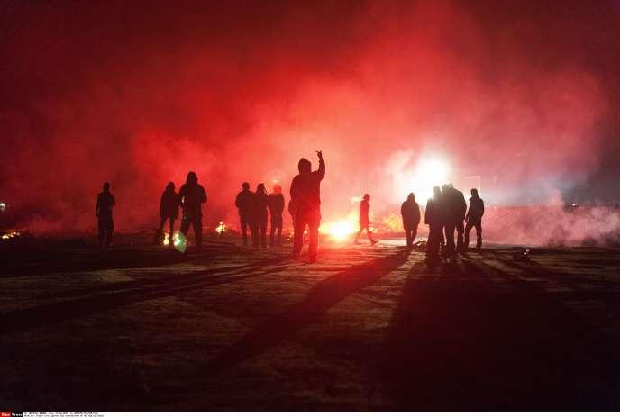 A Sivens, la nuit de la mort de Rémi Fraisse, le 25 octobre.