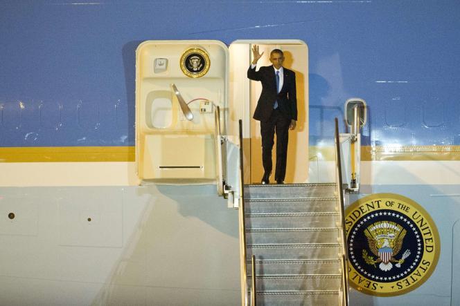 Barack Obama à son arrivée à Myanmar, le 12 novembre.