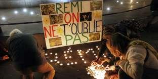 Lors d'une veillée en hommage à Rémi Fraisse, à Paris, le 14 novembre 2014.