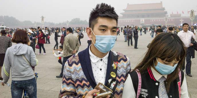 Sur la place Tiananmen à Pékin, le 11 octobre.