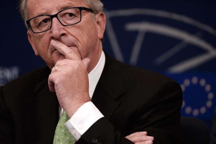 Le président de la Commission européenne, Jean-Claude Juncker, à Strasbourg, le 22 octobre.