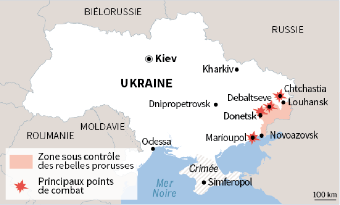 Carte de situation, 13 novembre 2014.